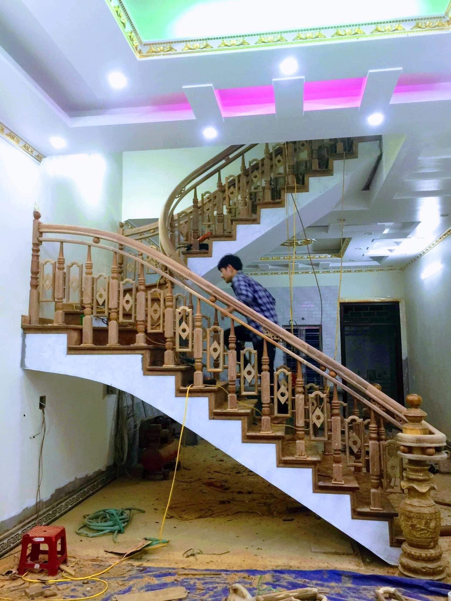 Cầu thang gỗ đẹp - Tổng hợp những mẫu cầu thang đẹp làm từ gỗ